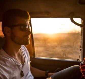 passenger-injury-male passenger sunglasses