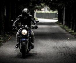 biker on black bike