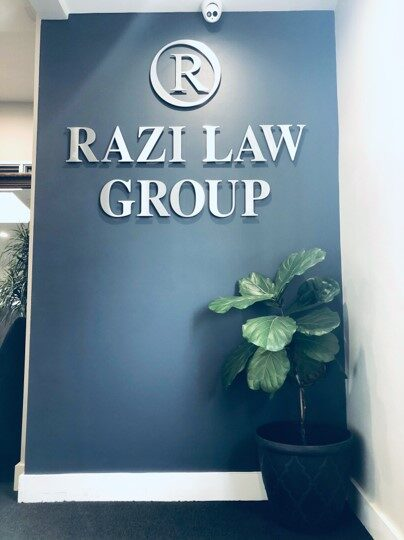 Razi Law Group Office Entrance